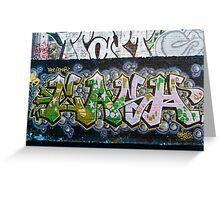 Grunge Graffiti Wall Greeting Card