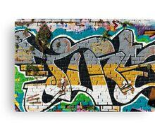 Abstract Graffiti ornament  Canvas Print