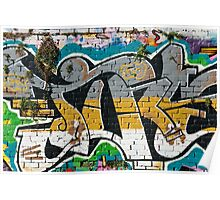 Abstract Graffiti ornament  Poster