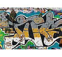 Abstract Graffiti ornament  Photographic Print