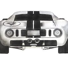 Ford GT40 - Rear by axemangraphics