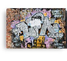 Grunge Fraffiti Wall. Canvas Print