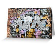 Grunge Fraffiti Wall. Greeting Card