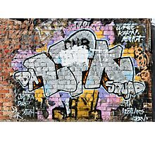 Grunge Fraffiti Wall. Photographic Print