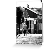 Walking in Edam Greeting Card