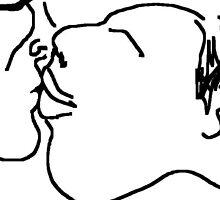 the kiss -(130611b)- digital drawing/ms paint by paulramnora