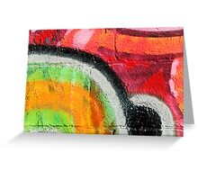 Textured Graffiti Closeup Greeting Card