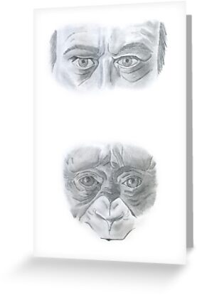 Man Vs. Primate by axemangraphics