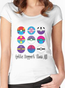 Gotta Support Them All Women's Fitted Scoop T-Shirt