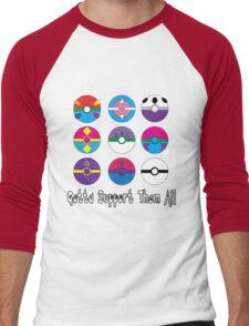 Gotta Support Them All Men's Baseball ¾ T-Shirt