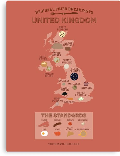Regional Fried Breakfasts of the United Kingdom by Stephen Wildish