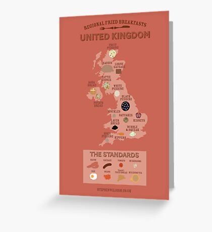 Regional Fried Breakfasts of the United Kingdom Greeting Card