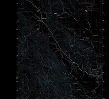 USGS Topo Map Oregon Gales Creek 20110906 TM Inverted by wetdryvac