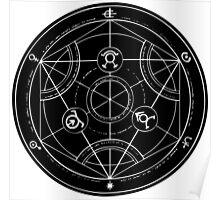 Black Alchemy Circle Poster
