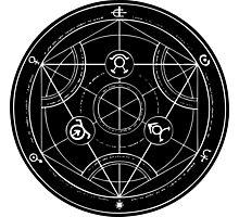 Black Alchemy Circle Photographic Print