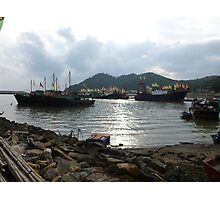 Harbour of Tai O Fishing Village Photographic Print