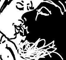 the kiss -(130611c1)- digital drawing/ms paint by paulramnora