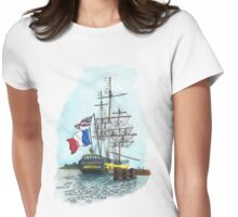 L'Hermione at Anchor (Color) Womens Fitted T-Shirt