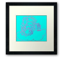 Retro-80s Hairspray Cloud Framed Print