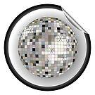 Disco ball black sticker by Laschon Robert Paul