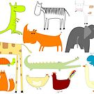 Drawing of animals by Laschon Robert Paul