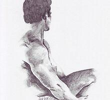 Seated Nude by Lee Lee
