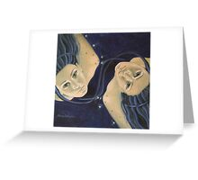 """Gemini""...from ""Zodiac signs"" series Greeting Card"