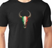 Italian Flag Bull Skull Unisex T-Shirt