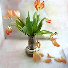 Tulips in a Silver Pot by LouiseK