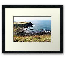 Volcanic Beach Framed Print