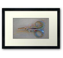 Laura's Scissors Framed Print
