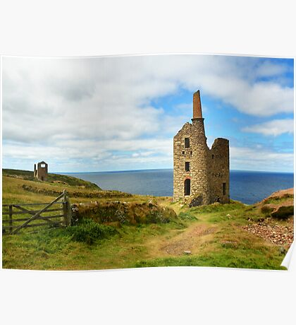 Wheal Owles Engine House, Cornwall Poster