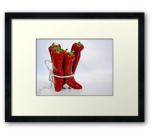 --- red hot chili peppers ... Framed Print