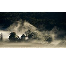 Persistent Mist, King Valley Photographic Print