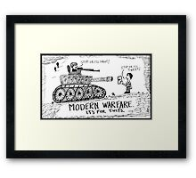Words of War Framed Print