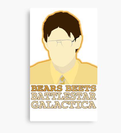 Bears Beets Canvas Print
