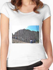 Basalt Pillars Women's Fitted Scoop T-Shirt