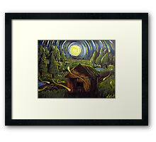The Barn in Firefly Field Framed Print