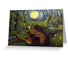 The Barn in Firefly Field Greeting Card