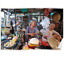 Two old friends share a joke. Vung Tau, Vietnam Poster