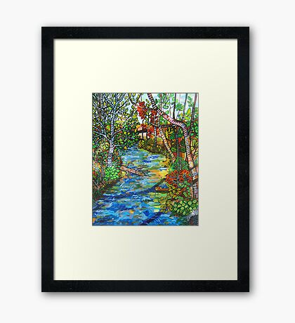 Afternoon At The Creek  SOLD Framed Print