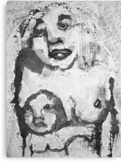 Mother and Child, Bernard Lacoque-5 by ArtLacoque