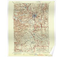 USGS Topo Map Oregon Mount Hood 283229 1927 125000 Poster