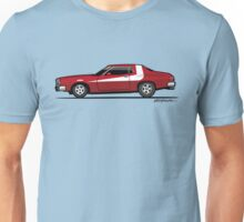 Red Seventies Undercover Cop Car Unisex T-Shirt