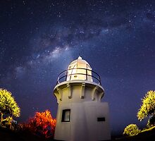 Milky Way over Lighthouse by JesseShawPhotos