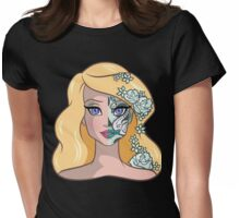 Sugar Skull Series: Lady Swan Womens Fitted T-Shirt