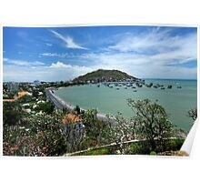 Nui Nho (Small Mountain) and bay. Vung Tau, Vietnam Poster