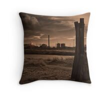 Aberavon Beach, Port Talbot. Throw Pillow