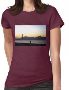 Enjoying The Sunset Womens Fitted T-Shirt