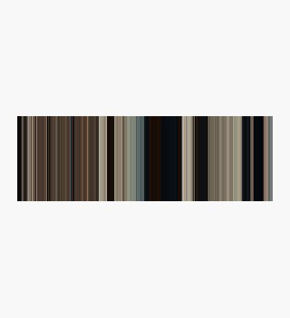 Moviebarcode: True Grit (2010) [Simplified Colors] Photographic Print